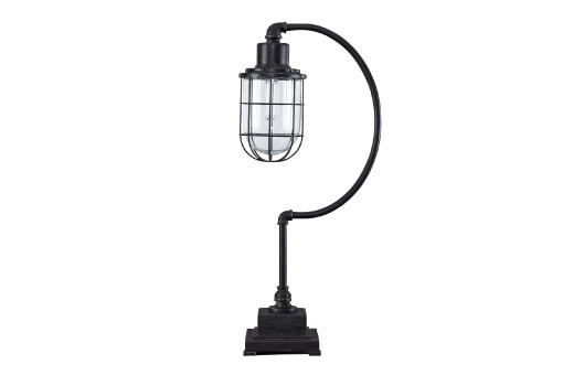 Industrial-inspired table lamp
