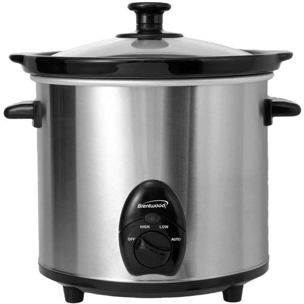 Brushed Nickel Slow Cooker