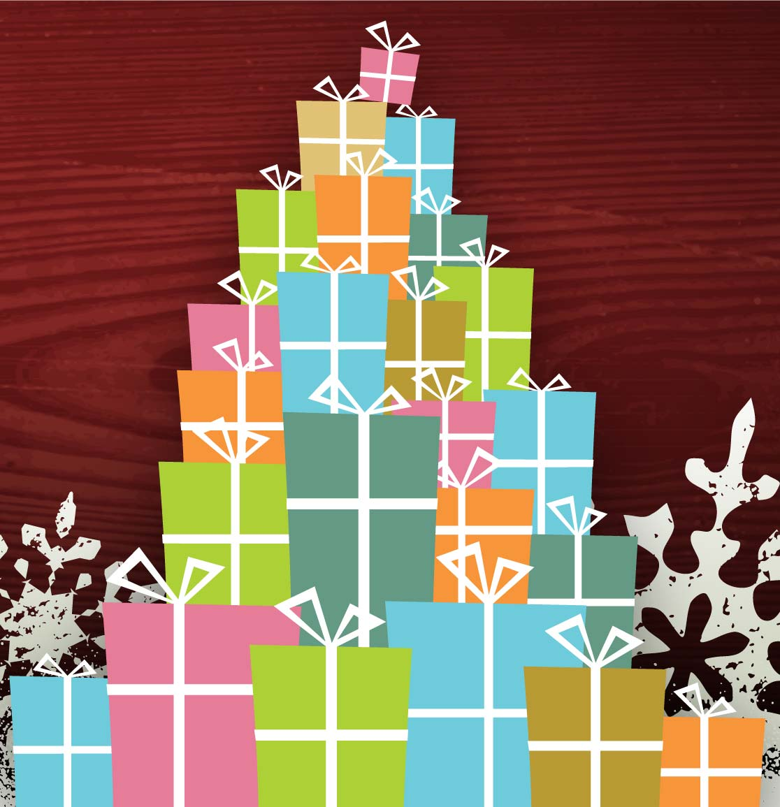 Illustration of a stack of presents
