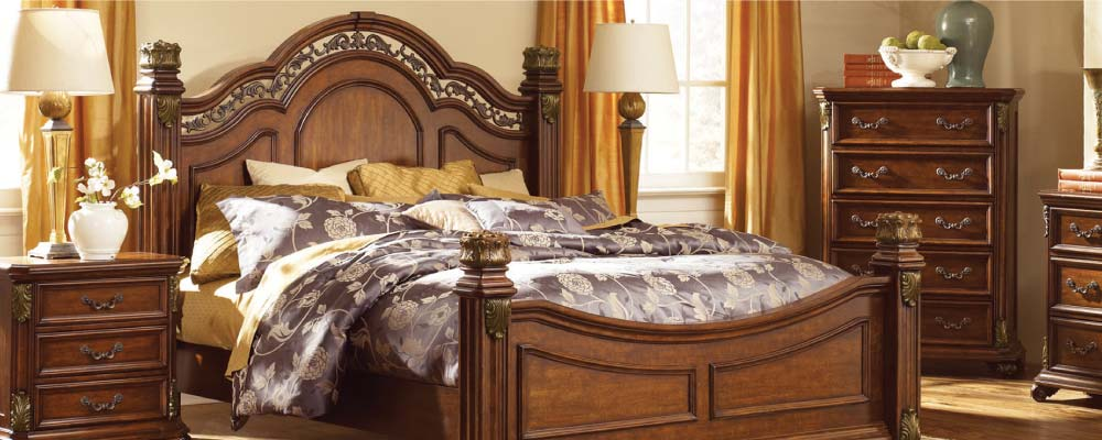White furniture Modern Ornate European Style Bedroom In Warm Wood Finish The Home Depot Gardnerwhite Furniture Michigan Furniture Stores