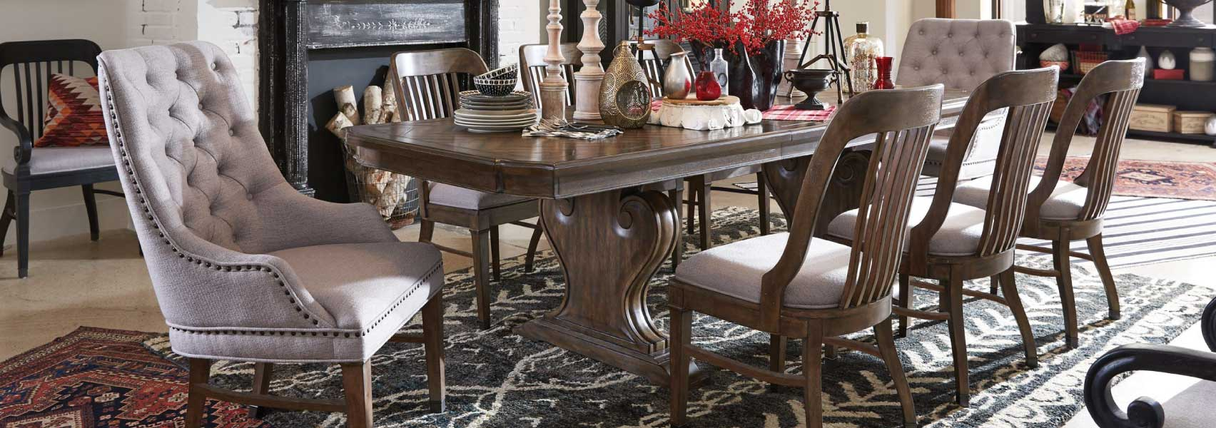 Rich Aged Whiskey finish dining room set