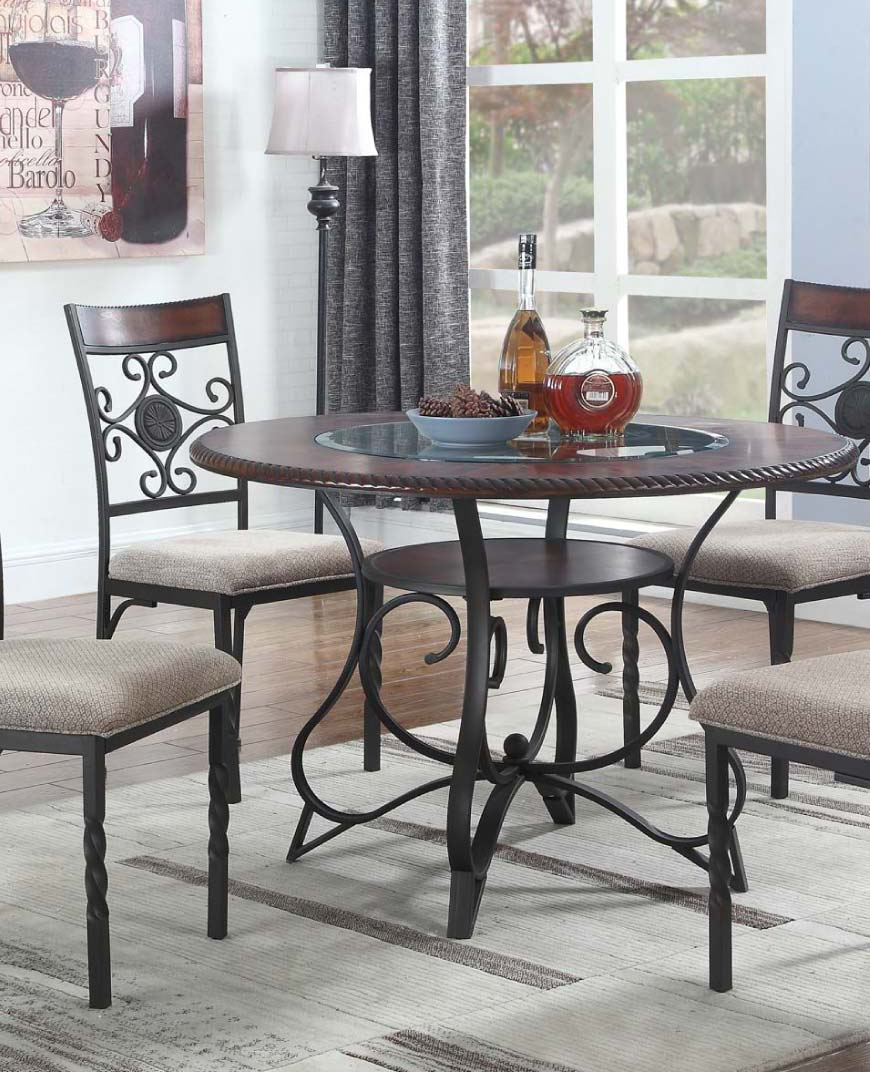Metal and glass bistro style dining set