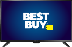 LED-TV with Best Buy logo on it's screen