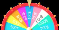 Prize wheel spinner