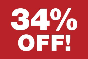 34% Off