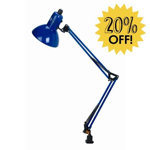 Blue Folding Lamp 20% Off