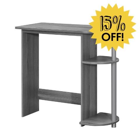 Grey desk 15% off