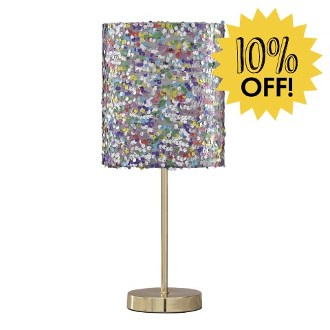 Sequined shade lamp 10% off