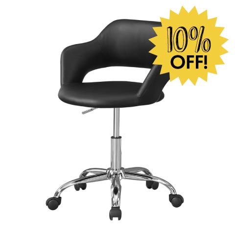 Black caster chair 10% off