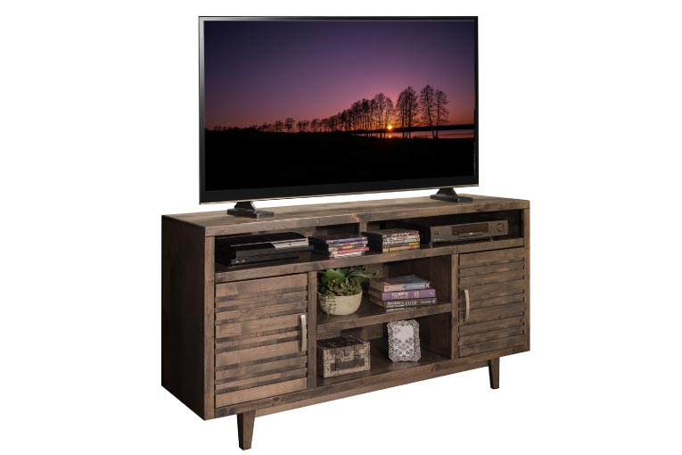 TV stand made with distressed wood